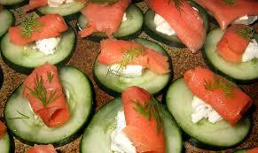 canape au saumon canapés concombre saumon ma cuisine santé