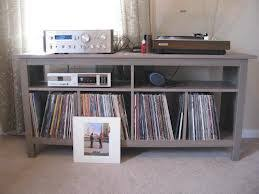 hemnes sofa table for records and player living room pinterest