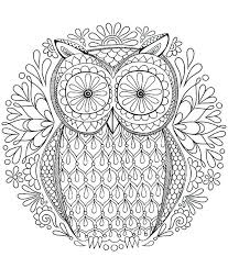 Full Image For Free Online Mandala Coloring Pages Adults Owl Page By Thaneeya