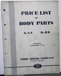 100 Ford Truck Body Parts 19271932 Dealer List Book Catalog Model A AA Car B
