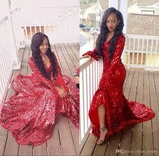 2k17 red sequin prom dresses u neck poet long sleeve 8th grade