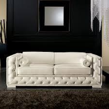 canapé style italien canapé italien 2 places en cuir blanc de style classique prestige