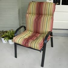 Allen And Roth Deep Seat Patio Cushions by High Back Chair Cushions Outdoor Furniture Roselawnlutheran