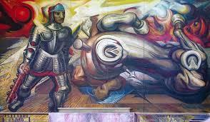 apotesis de cuauhtemoc david alfaro siqueiros murales palacio