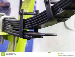 Leaf Springs Of A Truck Stock Photo. Image Of Leaf, Transport ...
