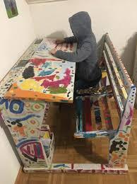 bureau customisé ancien pupitre d écolier customisé tables de bureau