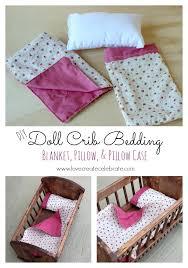 Doll Crib Bedding Love Create Celebrate