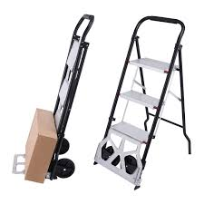 REVIEW! 2-in-1 Folding 3-Step Stool Ladder And Hand Truck Portable ... Folding Airport Luggage Hand Caportable Steel Foldable Happydeal Hd6711 Black Alinum Portable Cart Trolleys Officeworks Truck Carts Dolly Heavy Duty Wwhosale New Folding Hand Truck Cart Mini Seville Classics 150 Lbs Utility List Manufacturers Of 99 Trolley Buy Get Discount On The 10 Best Portable Trucks For Your Daily Needs Reviews Small Trucks Archives Behostinggcom