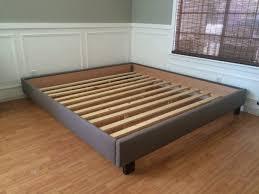 bedroom antique king size flat platform bed frame with drawers