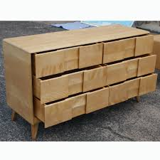 Heywood Wakefield Dresser Wheat by Midcentury Retro Style Modern Architectural Vintage Furniture From