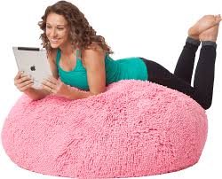 SHAGS Mega Large Bean Bag Chair In Cotton Candy Pink