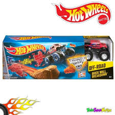 100 Monster Truck Track Set Jual Hot Wheels Jam Brick Wall Breakdown Ori Di