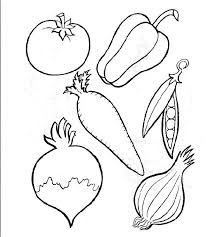 Vegetable Coloring Pages 2