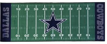 nfl dallas cowboys football runner rug eclectic game room and bar