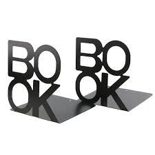 Amazoncom Simple Black BOOK Letter Pattern Metal Bookends Book