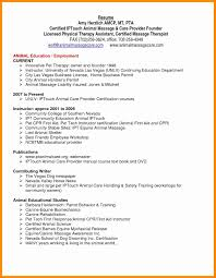 Massage Therapist Resume Awesome Occupational Therapy In Examples Resumes Samples