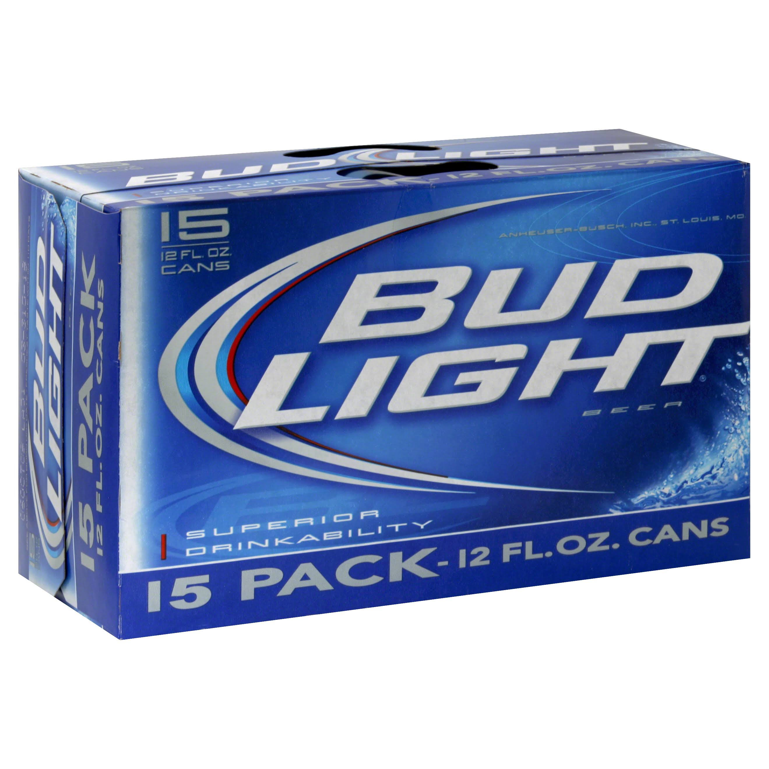 Bud Light Beer - 12oz, 15 Pack