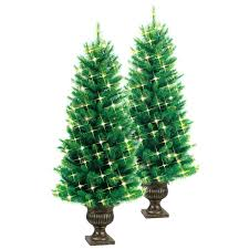 4 Foot Lighted Christmas Tree Shop Ft Lit Pine Artificial With White Within Pre Slim
