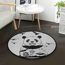 n a teppich für kinderzimmer schwarz weiß panda aus china