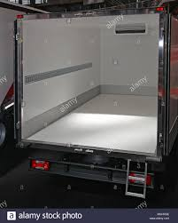 100 Truck Doors Open Back At Empty Refrigerated Delivery Stock Photo