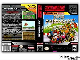 Super Mario Kart SNES Super Nintendo Game Case Box Cover Brand New ...