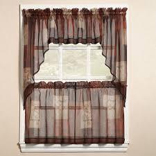 Kitchen Drapery Ideas Swag Tier Kitchen Window Curtains