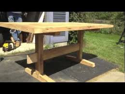 Build A Reclaimed Wood Desk by Building A Reclaimed Barn Wood Table Youtube