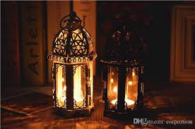 Cheap Sale Black White Metal Candle Holders Iron Lantern For Wedding