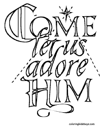 Coloring Pages Religious Christmas Free Best Of