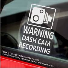 100 Mini Truck Stickers 4 X WARNING DASH CAM Recording60x87mm WINDOW Vehicle