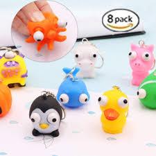 Amazoncom 8 Pcs Raised Eyes Doll Anti Stress Ball Vent Animal