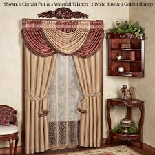 Valances Curtains For Living Room by Elegant Curtains Touch Of Class