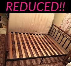 hyper bureau brest bed frame black metal and wood 2c4d9f02 jpg