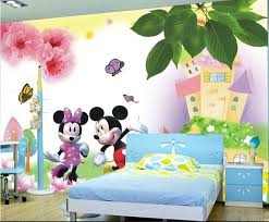 Aliexpress Buy Large Mural 3d Male Girl Cartoon Bedroom Of Wall Painting In