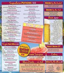 tropical drinks wine beer at our tiki bar patchogue ny