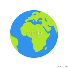 Isolated planet Earth on white background Simple flat world globe