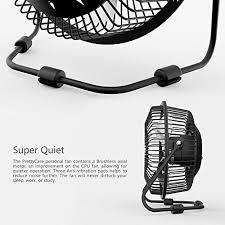 prettycare usb desk fan powerful airflow a free adapter