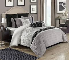 White And Black Bedding by 8 Piece Temsia Gray White Black Comforter Set