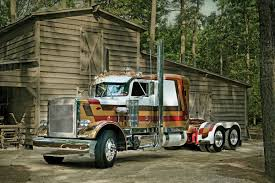 Semi-truck At Barn - Stock Photo - Dissolve