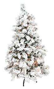 Northlight Pre Lit Heavily Flocked Pine Medium Artificial Christmas Tree With Clear Lights 65