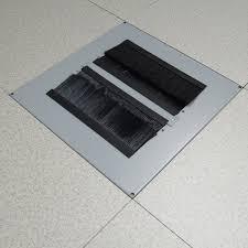 raised floor tile with brush grommets edp europe