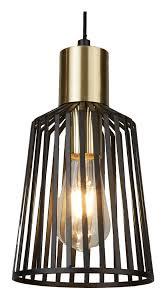 pendel le wohn zimmer beleuchtung käfig leuchte hänge spot strahler schwarz searchlight 9412bk