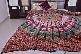 Blue Mandala Duvet Cover Reversible Indian Quilt Cover Ethnic