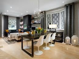 aménagement cuisine salle à manger salle a manger mur gris idee deco salle a manger grise et prune