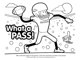 Football Coloring Pages Super Bowl Sunday Page College