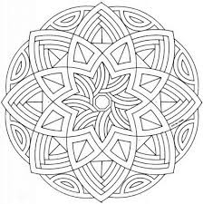 Click To See Printable Version Of Celtic Mandala With Flower Coloring Page
