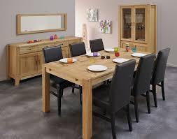 ensemble salle à manger complète contemporaine en chêne massif tucker