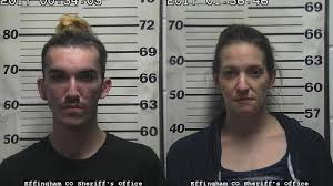 Effingham County Inmate Booking by 2 Effingham Residents Facing Felony Drug Charges Wrsp