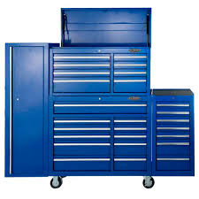 Buy Maxim 28 Drawer Combo Blue Tool Box Locker Side Cabinet 76 Inch ...