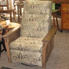 McCoy Swivel Rocker Recliner, Shown In Oak - Amish Oak